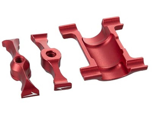 KCNC Carbon Zadelrail Support Kit Ø30,9-34,9mm voor Ti Pro Lite, red